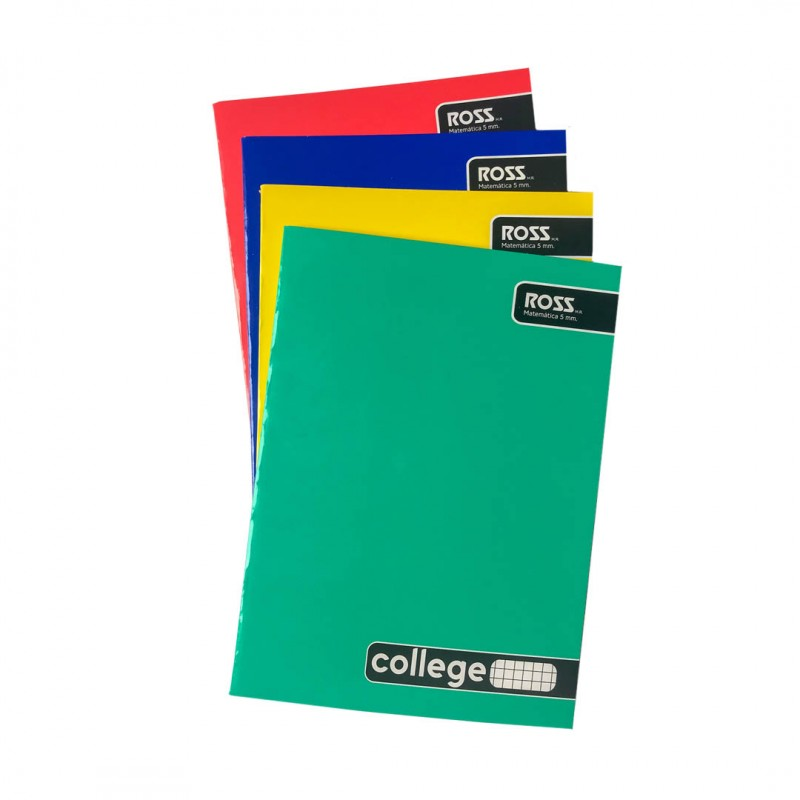 Cuaderno College Liso 5mm...