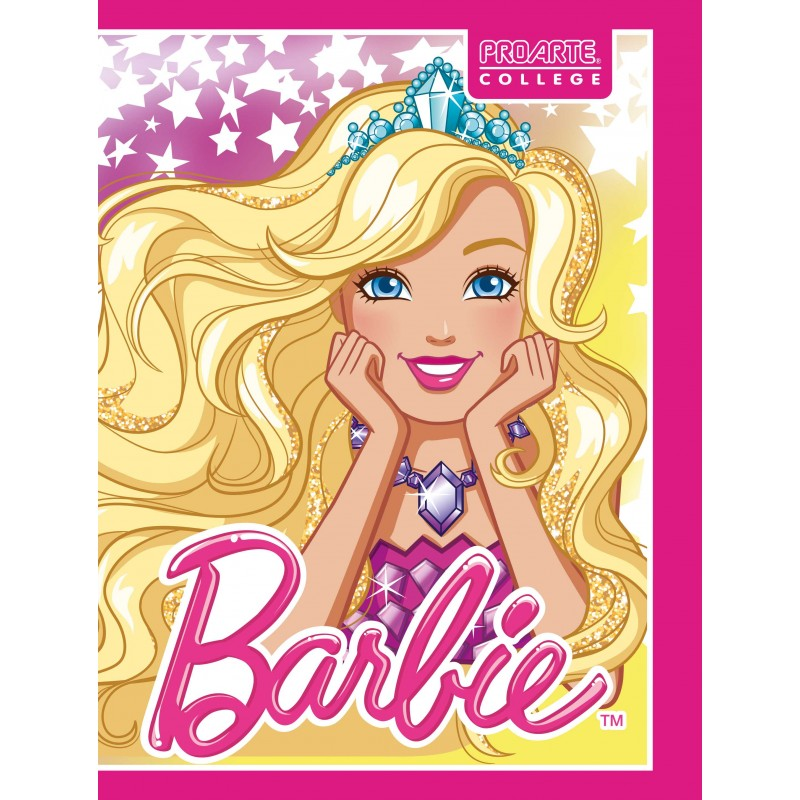 Cuaderno College Barbie 7mm...